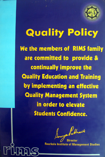 RIMS : Quality Policy